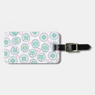 Watercolor Paisley Circles Bag Tag