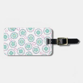 Watercolor Paisley Circles Luggage Tag