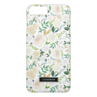 Watercolor Pale Peonies Custom iPhone 8 Plus Case