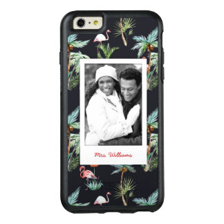Watercolor Palm Pattern | Add Your Photo & Name OtterBox iPhone 6/6s Plus Case