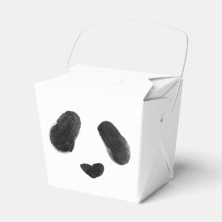 Watercolor Panda Heart Face Favour Box