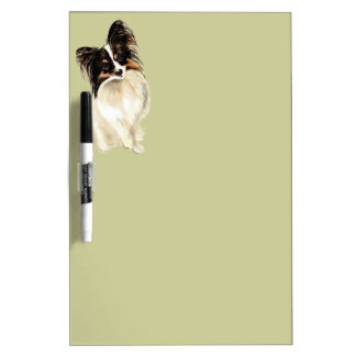 Watercolor Papillon Dog Pet Cute Animal  Art Dry Erase Board