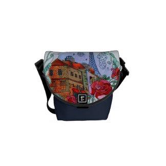 Watercolor Paris Commuter Bags