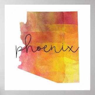 Watercolor Phoenix Arizona Poster