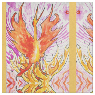 Watercolor Phoenix Fabric