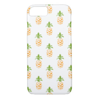 Watercolor Pineapple Pattern iPhone 7 Case