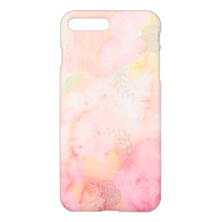 Watercolor Pink Floral Background iPhone 7 Plus Case