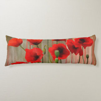 Watercolor Poppies Body Cushion