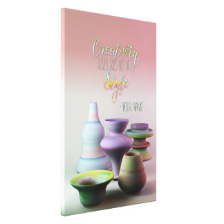 Watercolor Pottery Creativity Never Goes Out Style Gallery Wrap Canvas