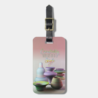 Watercolor Pottery Creativity Never Goes Out Style Luggage Tags