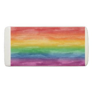 Watercolor Rainbow Stripes Eraser