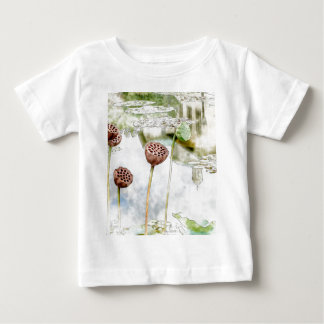 Watercolor Reflection Brooklyn Botanical Garden Baby T-Shirt