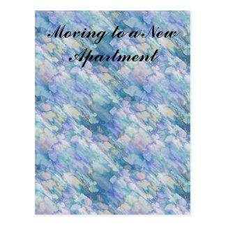 Watercolor Retro Apartment Change of Address Postcard