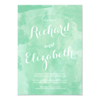Watercolor Romance Rehearsal Dinner Invite