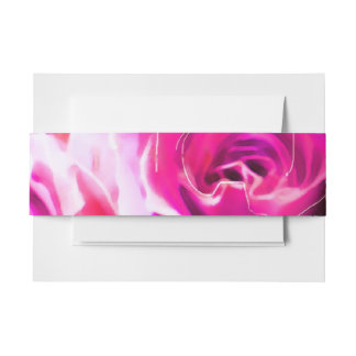 WATERCOLOR ROSES Bat Mitzvah Belly Wrap Band Invitation Belly Band