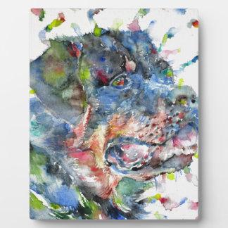 watercolor rottweiler plaque
