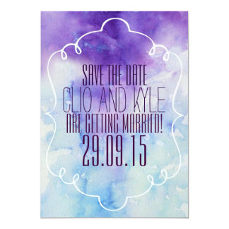 Watercolor Save The Date 13 Cm X 18 Cm Invitation Card