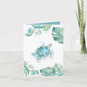 Watercolor Sea Turtle Blank Card