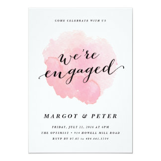 Watercolor spotlight | Engagement Party Invitation