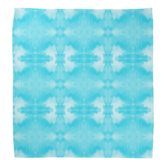 watercolor teal pattern bandana