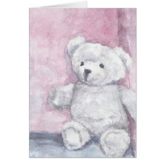 Watercolor Teddy Bear Note Cards, Blank Interior Card