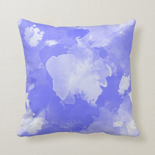 watercolor violet pattern throw pillow
