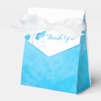 Watercolor wash flower thank you wedding favor box wedding favour box