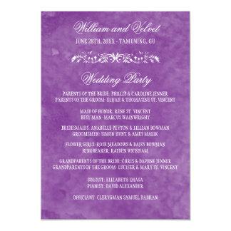 Watercolor Wedding Programs 13 Cm X 18 Cm Invitation Card