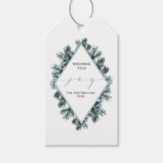 Watercolor Winter Fir Branches Holiday