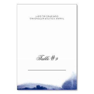 Watercolor Wonderland Folded Place Card Table Card