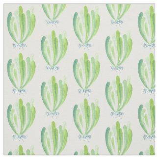 Watercolour seaweed fabric