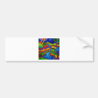 Waterfall Abstract Bumper Sticker