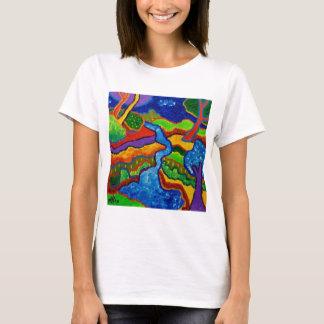 Waterfall Abstract T-Shirt