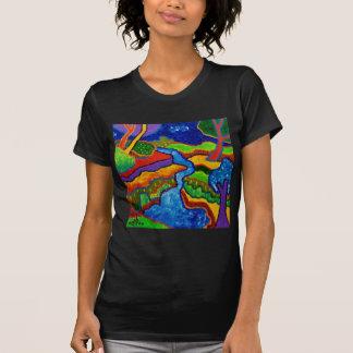 Waterfall Abstract T-shirts