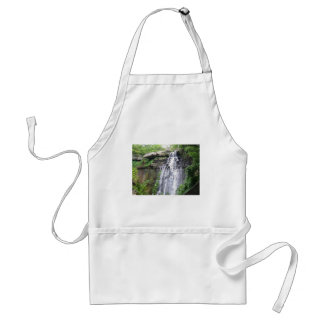 waterfall and greenery adult apron