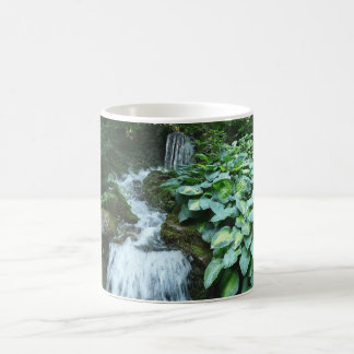 Waterfall and Hostas Coffee Mugs
