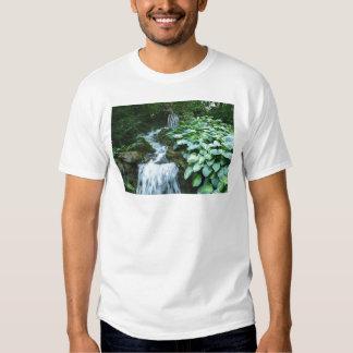 Waterfall and Hostas T-shirts