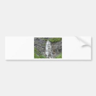 waterfall car bumper sticker