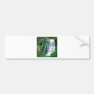 Waterfall Burgess State Natural Area Sparta Bumper Sticker