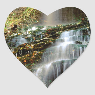 Waterfall Cathedral West Virginia Heart Sticker