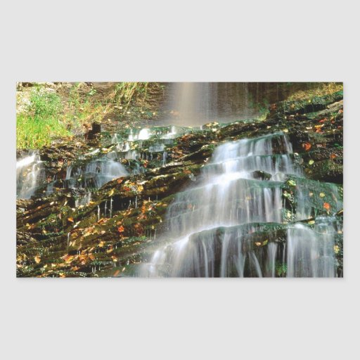 Waterfall Cathedral West Virginia Rectangle Sticker