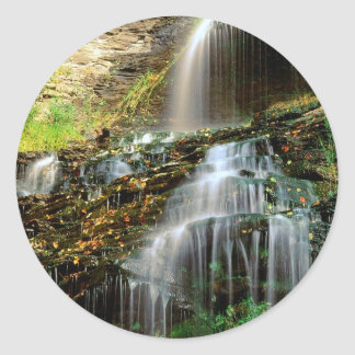 Waterfall Cathedral West Virginia Round Stickers