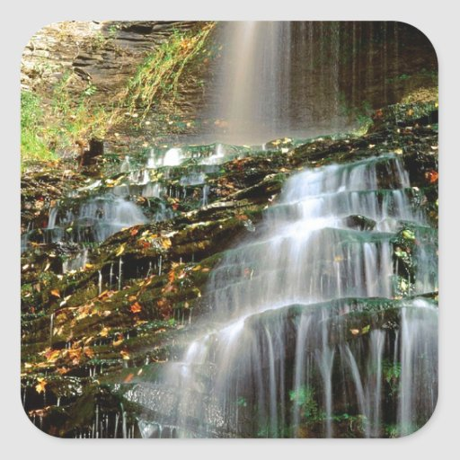 Waterfall Cathedral West Virginia Stickers