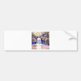 Waterfall Color Painting Bumper Sticker