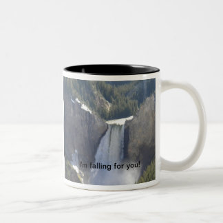 "Waterfall Cup ""I'm falling for you!"" Two-Tone Mug"