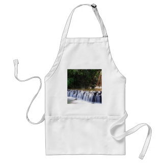 Waterfall Distant Light Hits River Flow Standard Apron