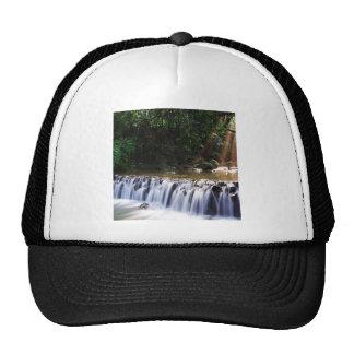 Waterfall Distant Light Hits River Flow Trucker Hats