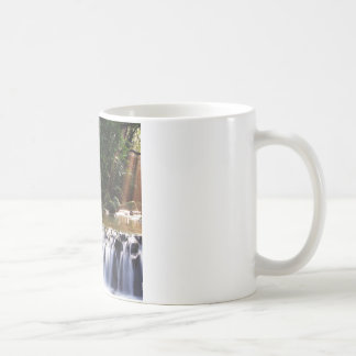 Waterfall Distant Light Hits River Flow Mugs