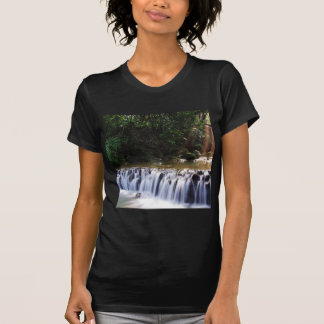 Waterfall Distant Light Hits River Flow Tees