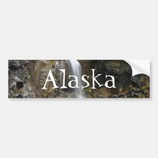 Waterfall Erosion Alaska Souvenir Bumper Stickers